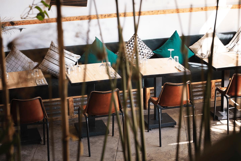 Interior of La Palette Restaurant Marrakech