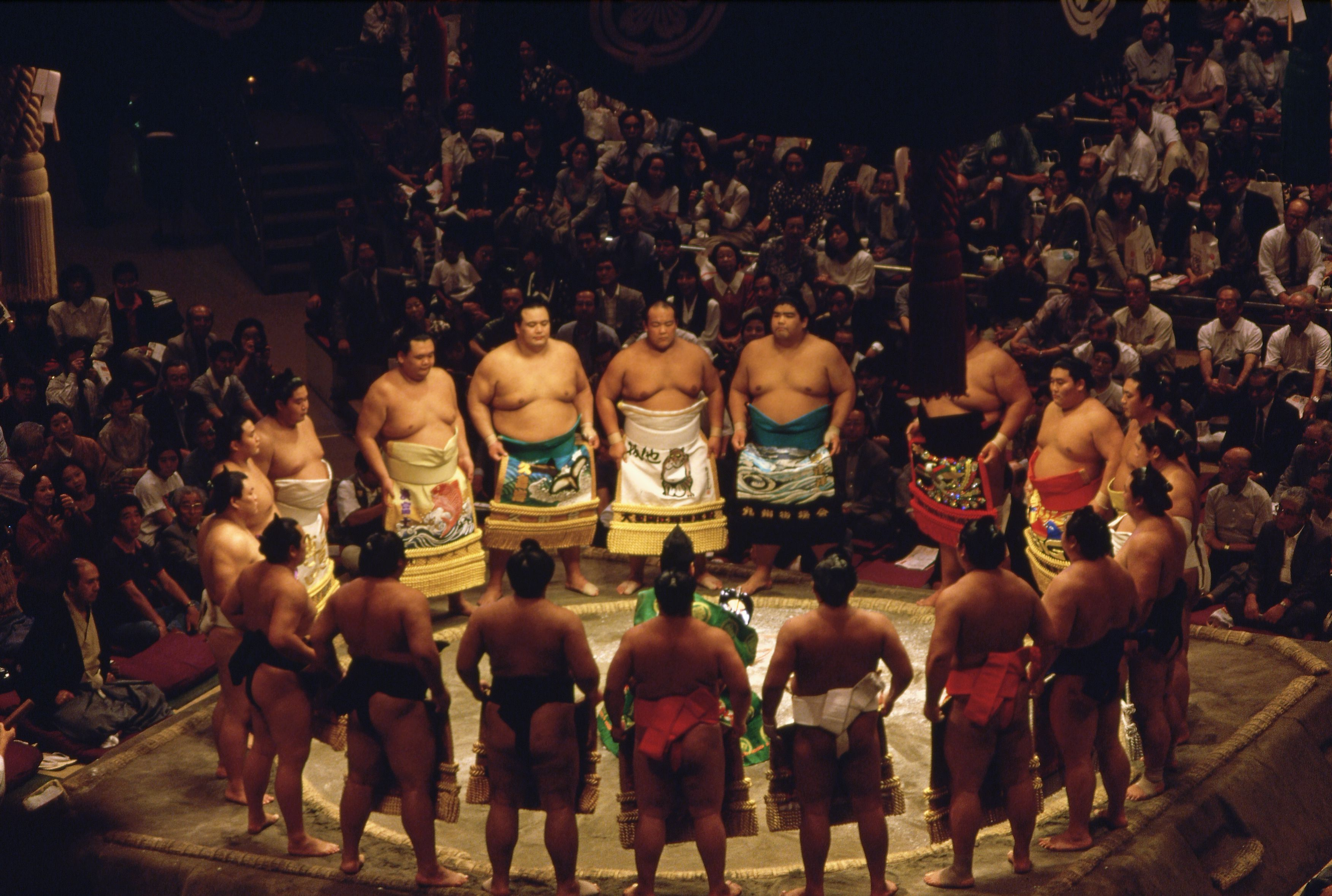 Sumo Wrestlers at Opening Ceremony