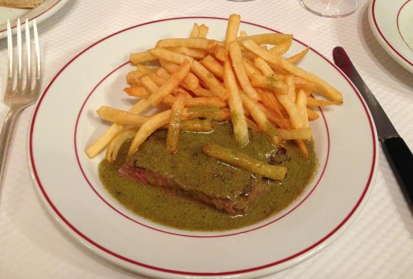 Le Relais de l'Entrecote is reputed for its excellent steak-frites.