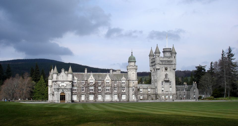 Balmoral Castle, in Deeside, Aberdeenshire, near the village of Crathie. Purchased by Queen Victoria and Prince Albert in 1852, it remains privately owned by the Queen.