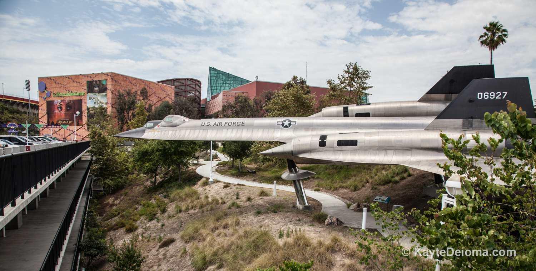The A-12 Blackbird aircraft at the California Science Center