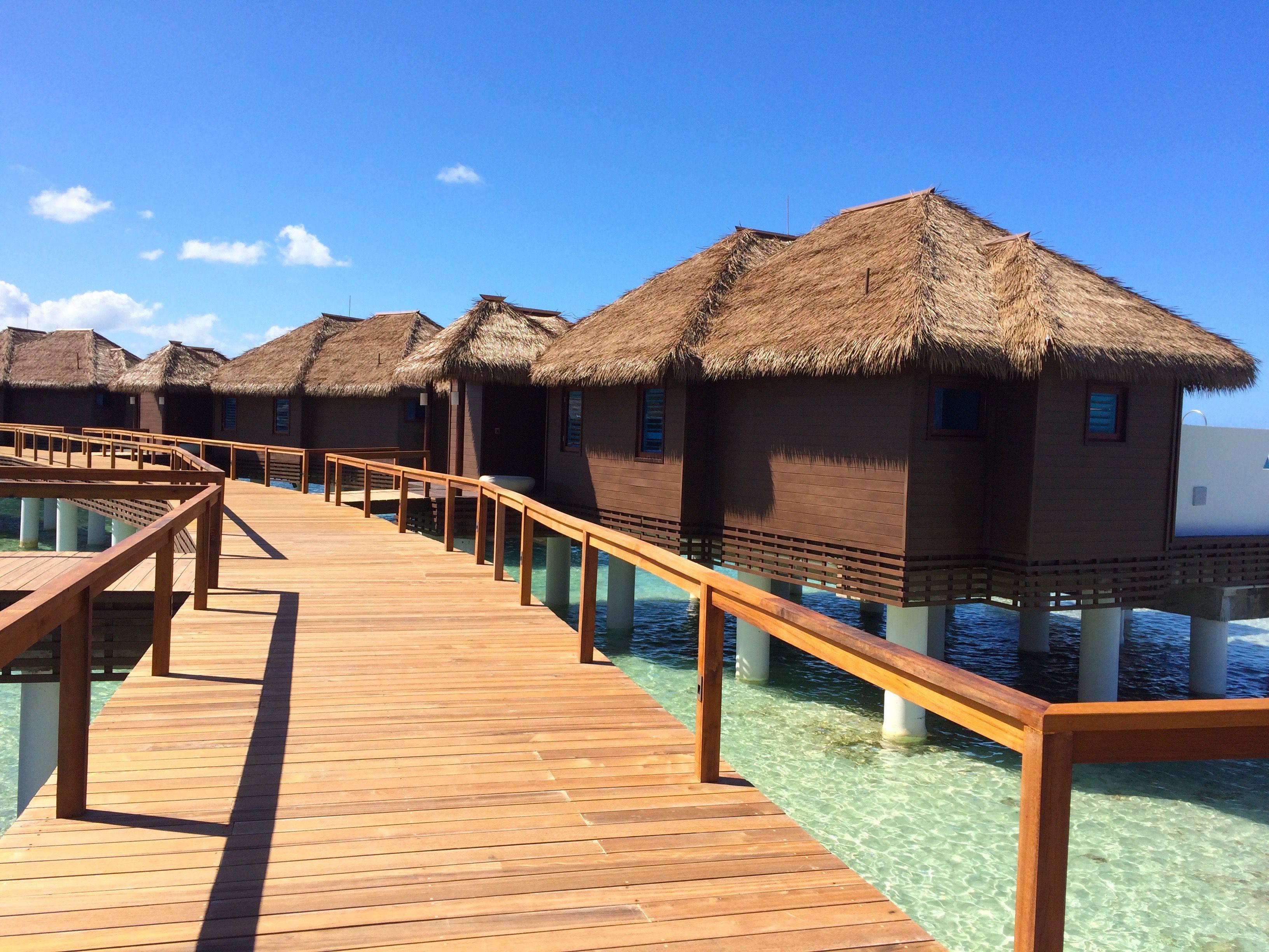 Boardwalk to villas
