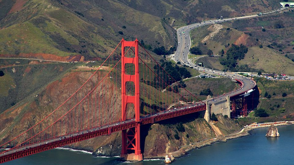 Golden Gate Aerial, Highway 101