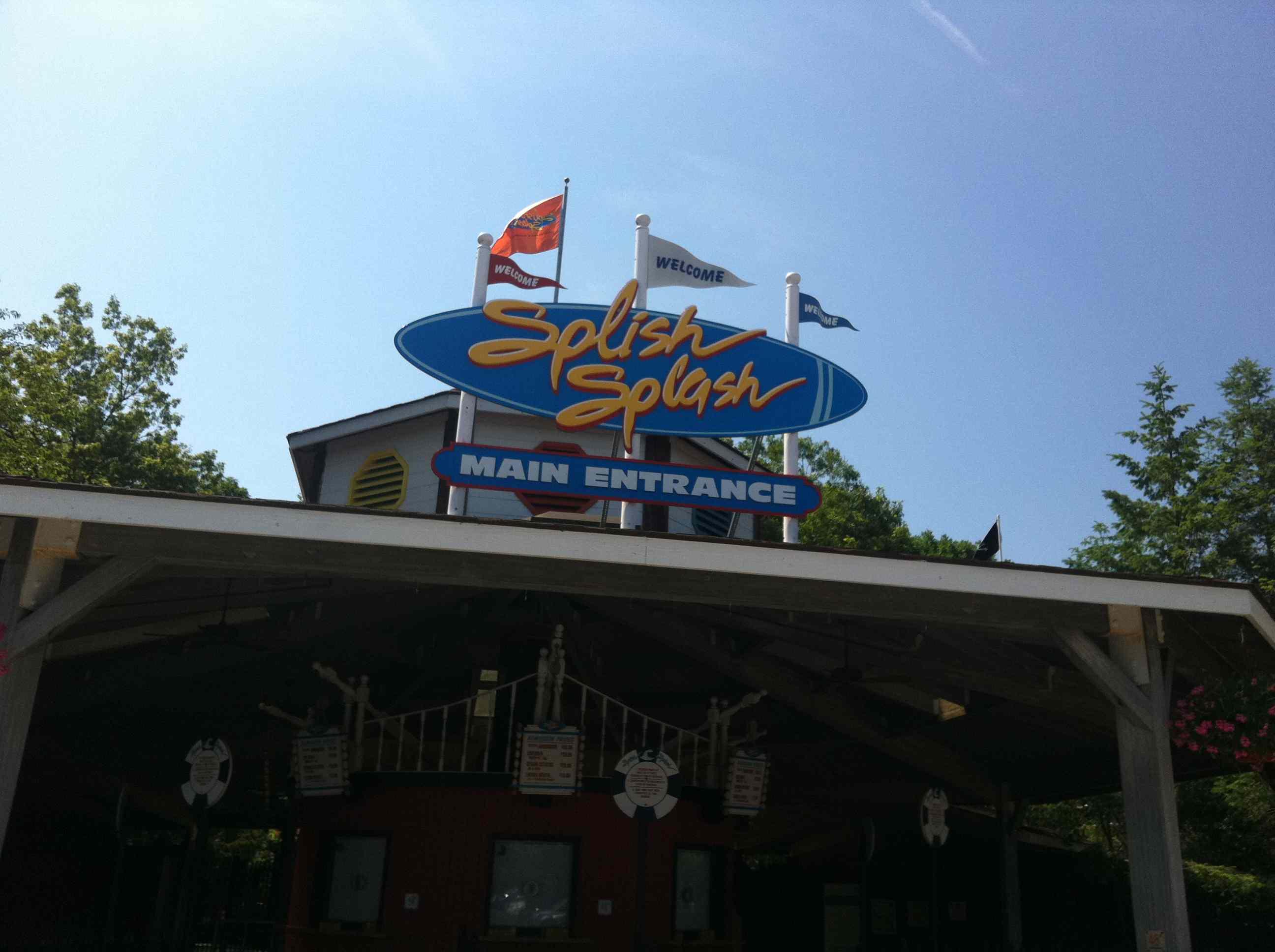 Entrance of the Splish Splash Water Park in New York.