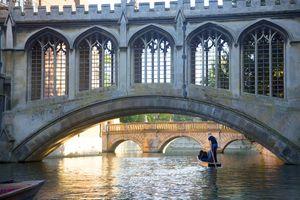 View of bridge at Cambridge University