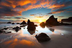 El Matador State Beach at sunset
