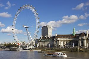 London Eye on the River Thames in daylight