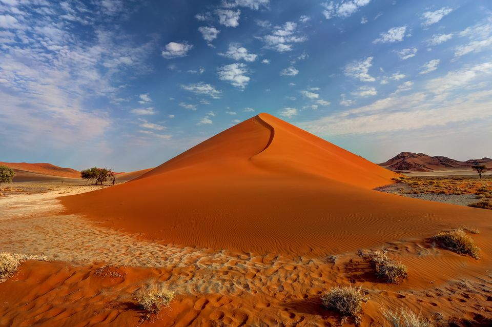 The beginning of the dune in Namibia