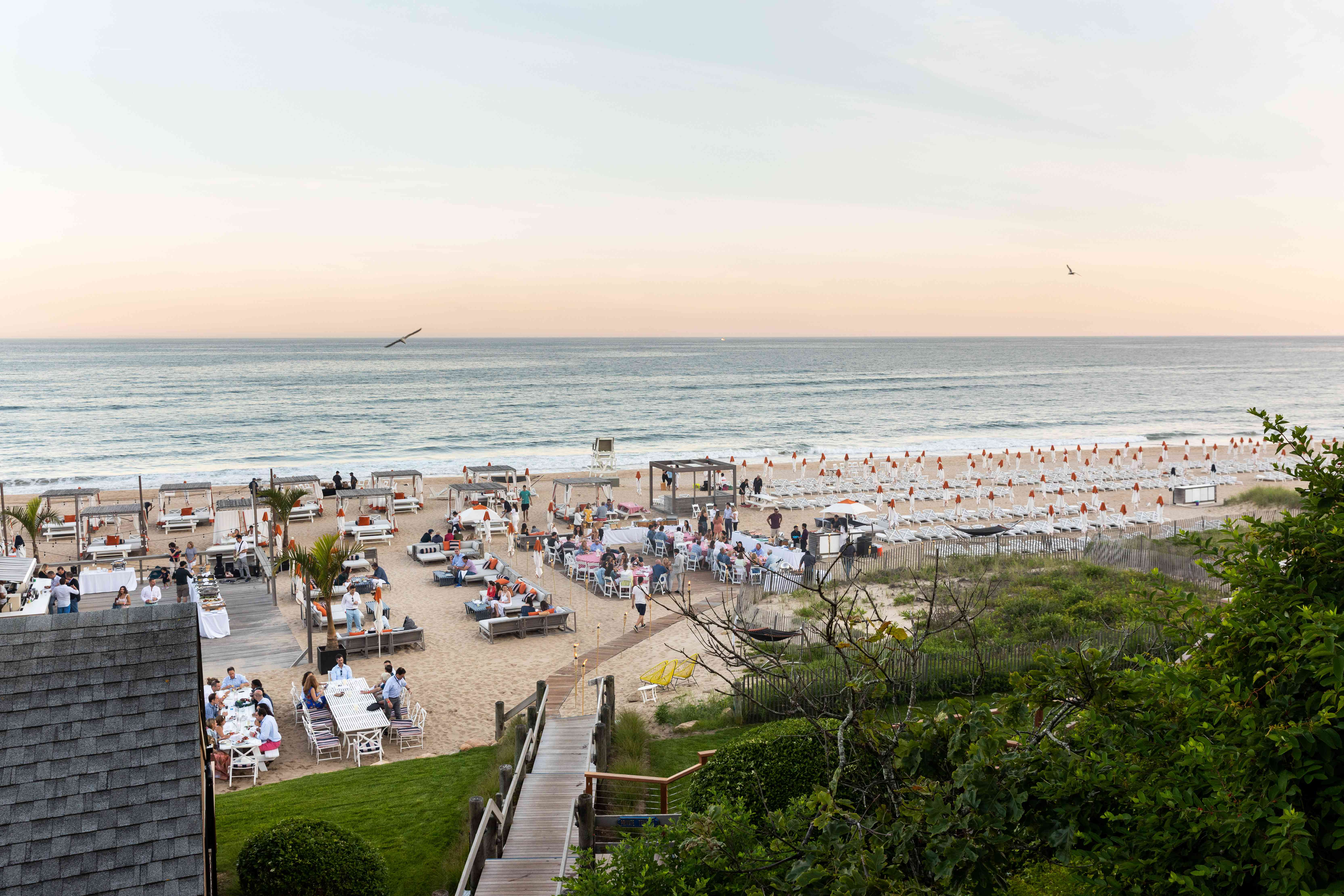 An overview of The Beach Club at Gurney's Montauk Resort & Seawater Spa
