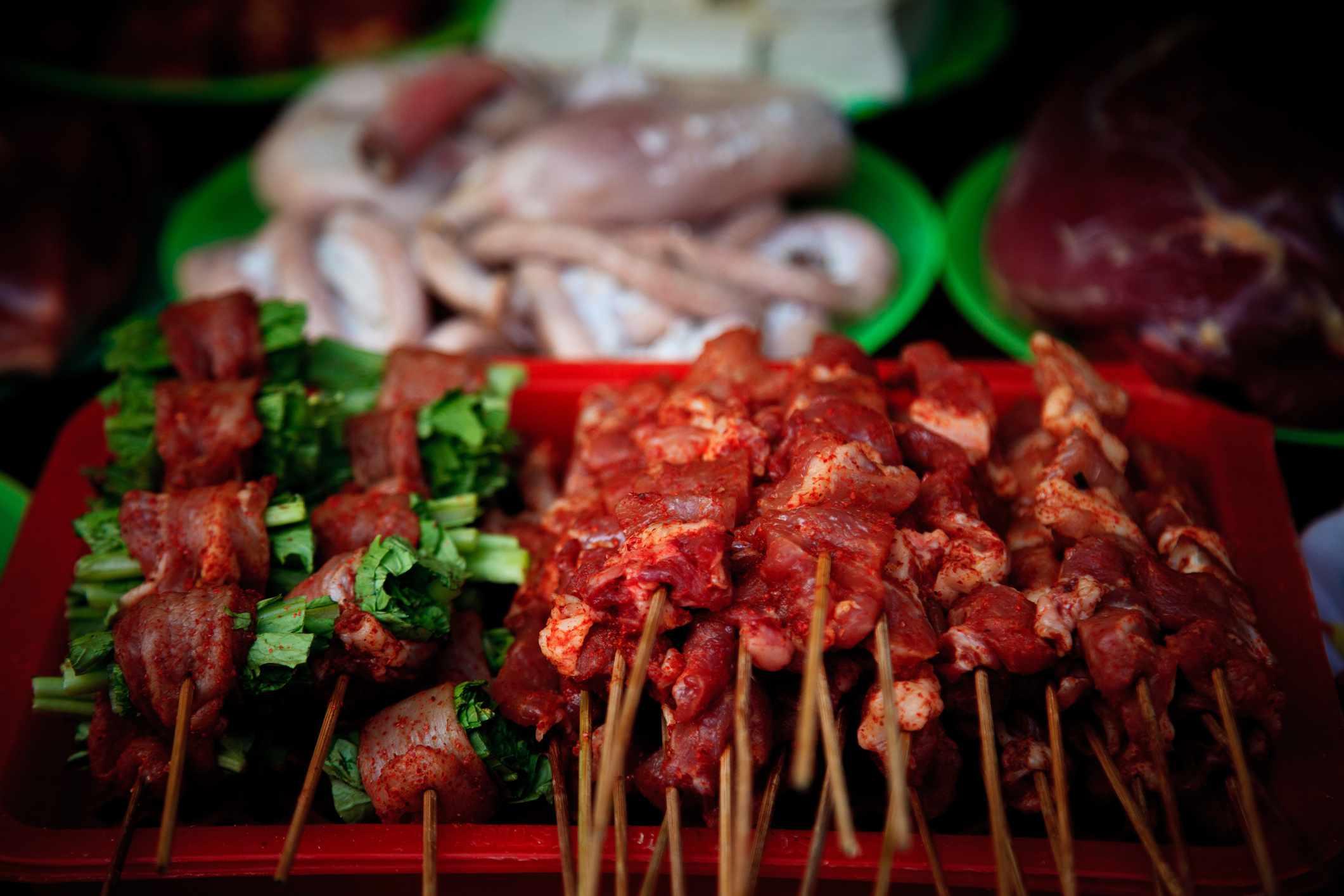 Grilled food in Sapa, Vietnam