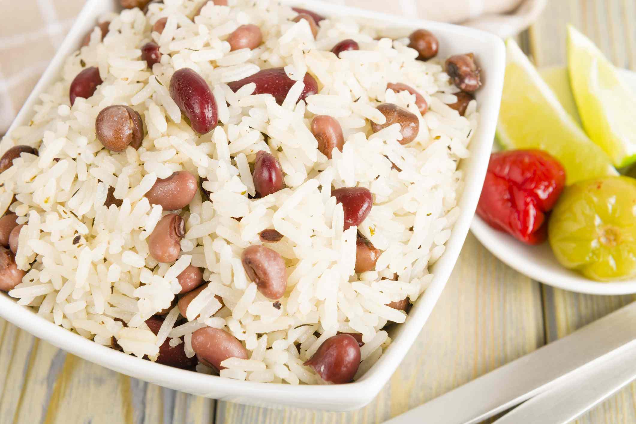 arroz y guisantes