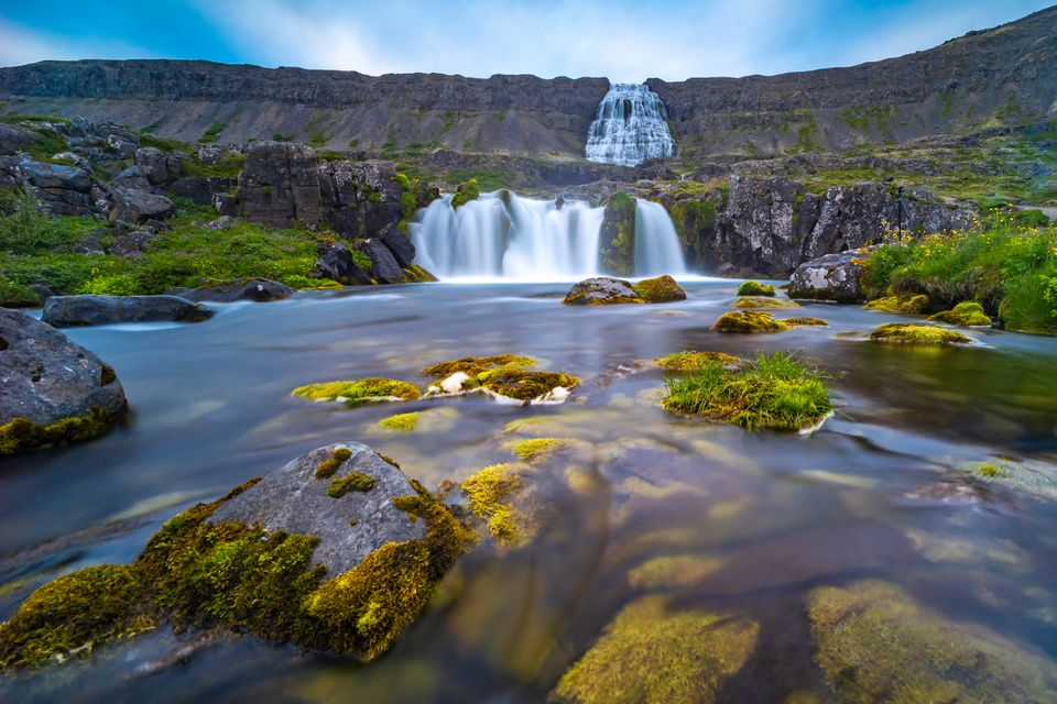 Cascada Dynjandi, Islandia