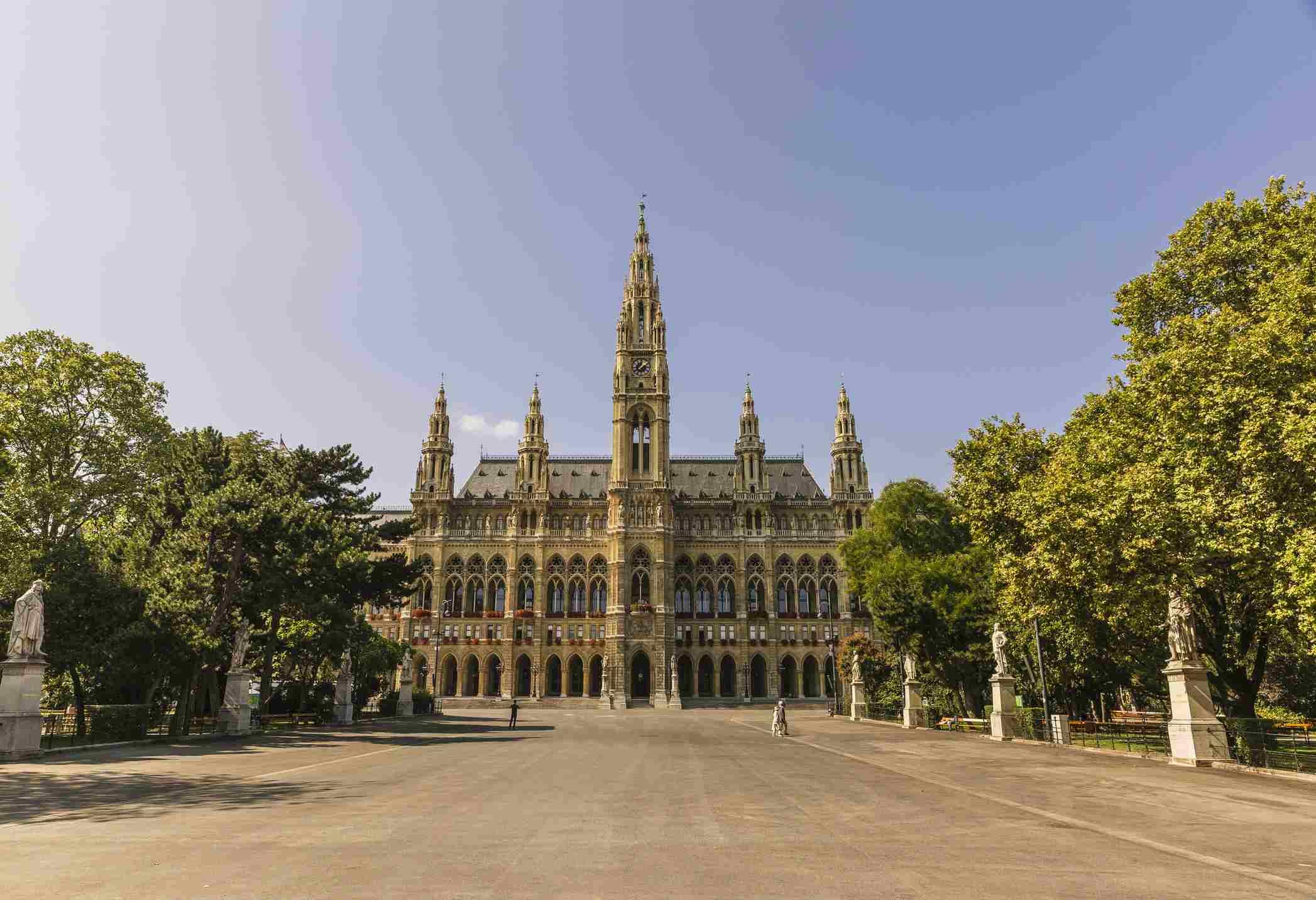 Ayuntamiento de Viena en Austria