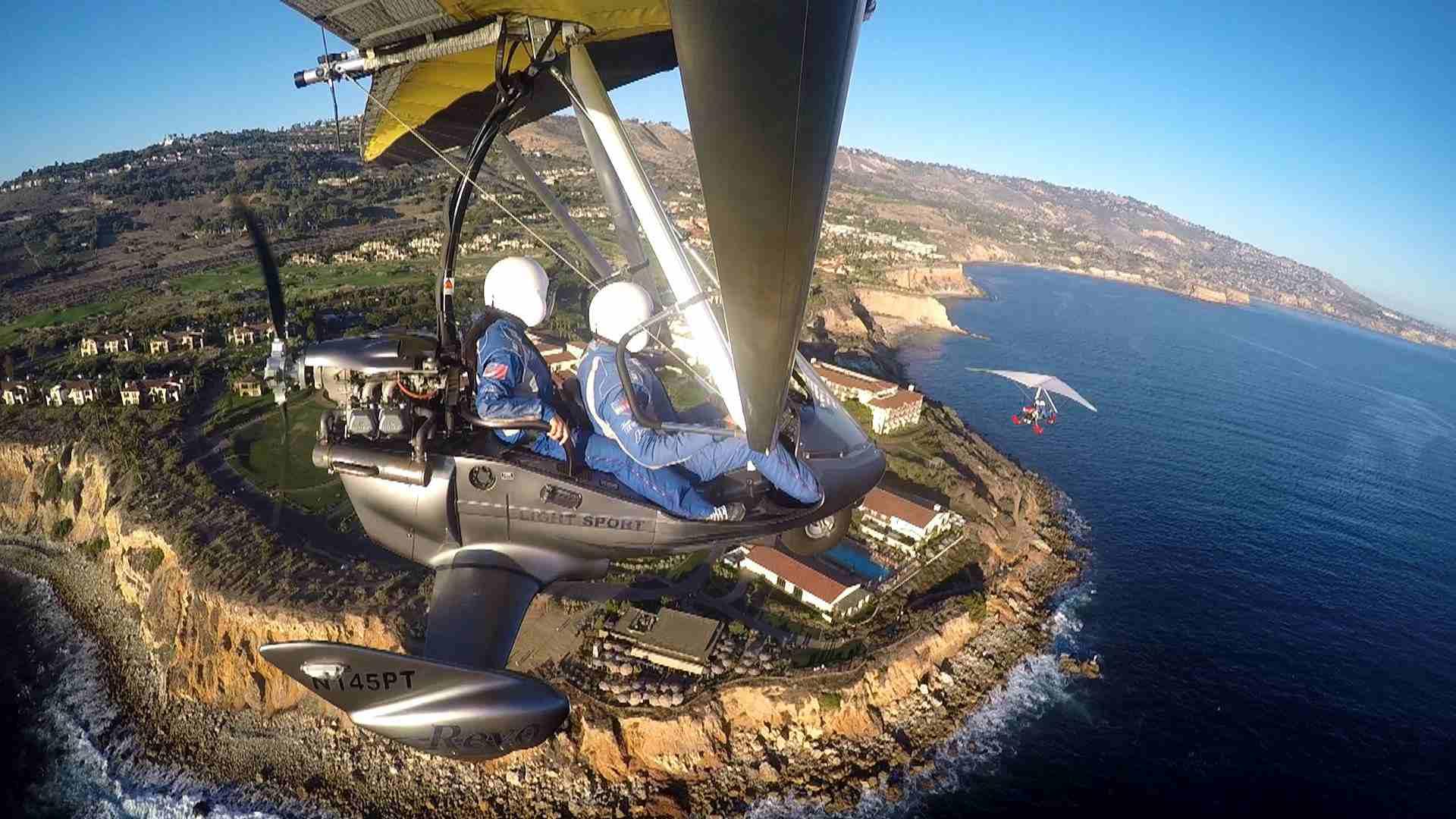 Pacific Blue Air Flight over Palos Verdes