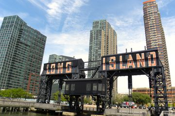 Long Island sign seen in Hunters Point Queens