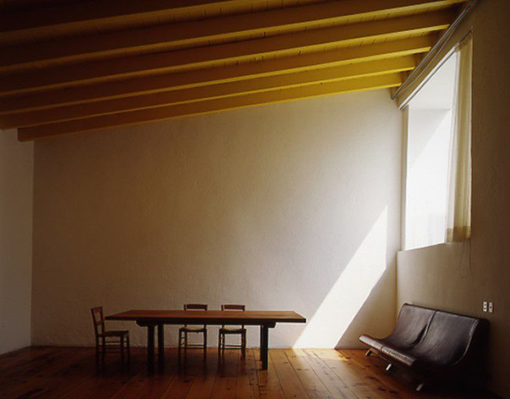 The study in the home of architect Luis Barragán