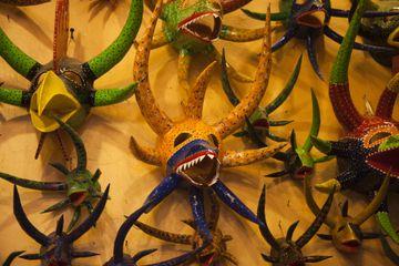 Traditional vejigante masks
