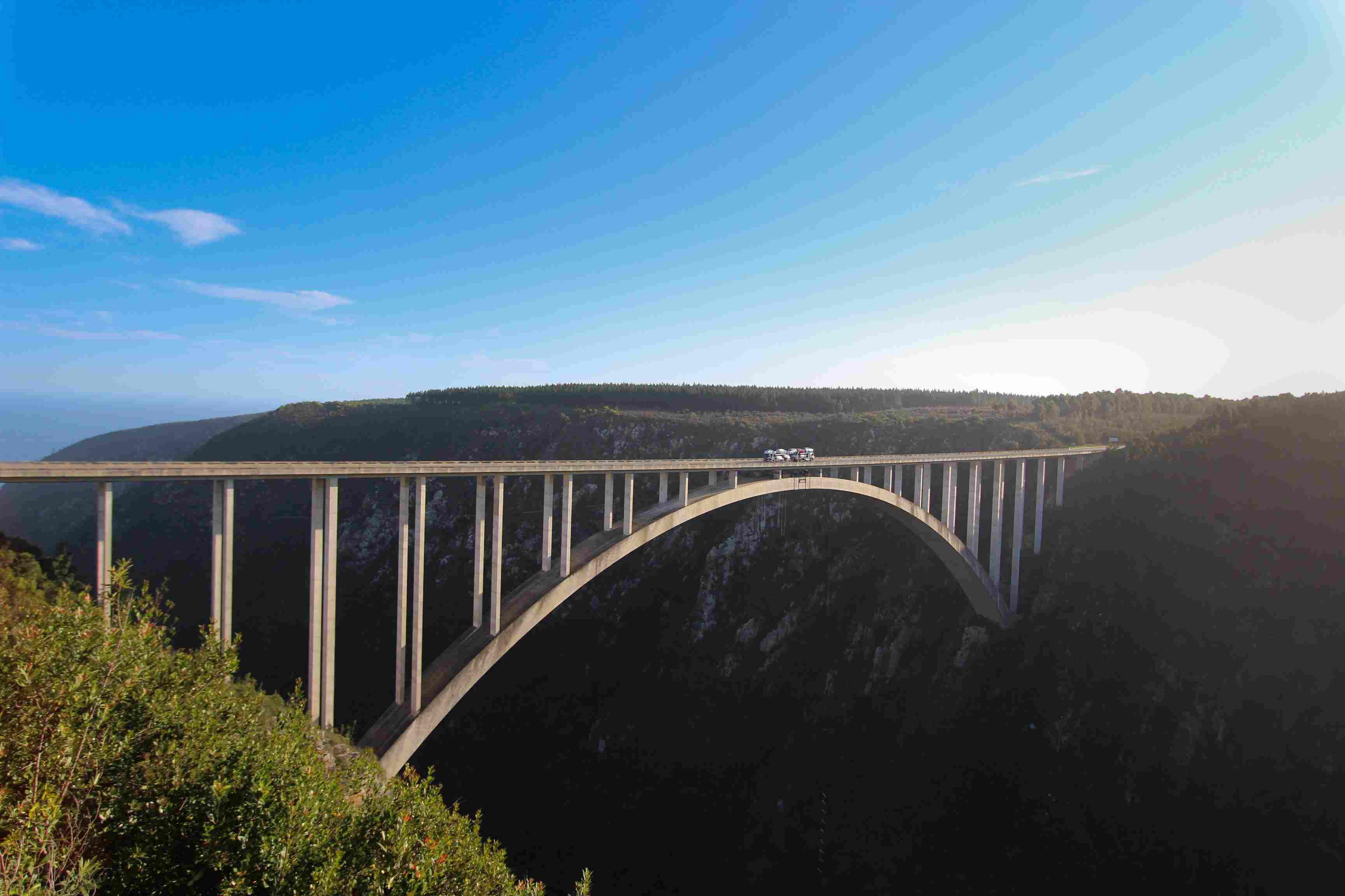 The Bloukrans Bridge near Western Cape, South Africa