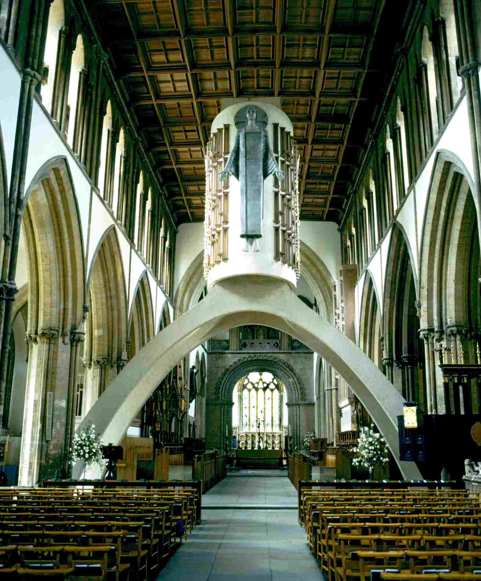 Jacob Epstein's Majestas at Llandaff Cathedral
