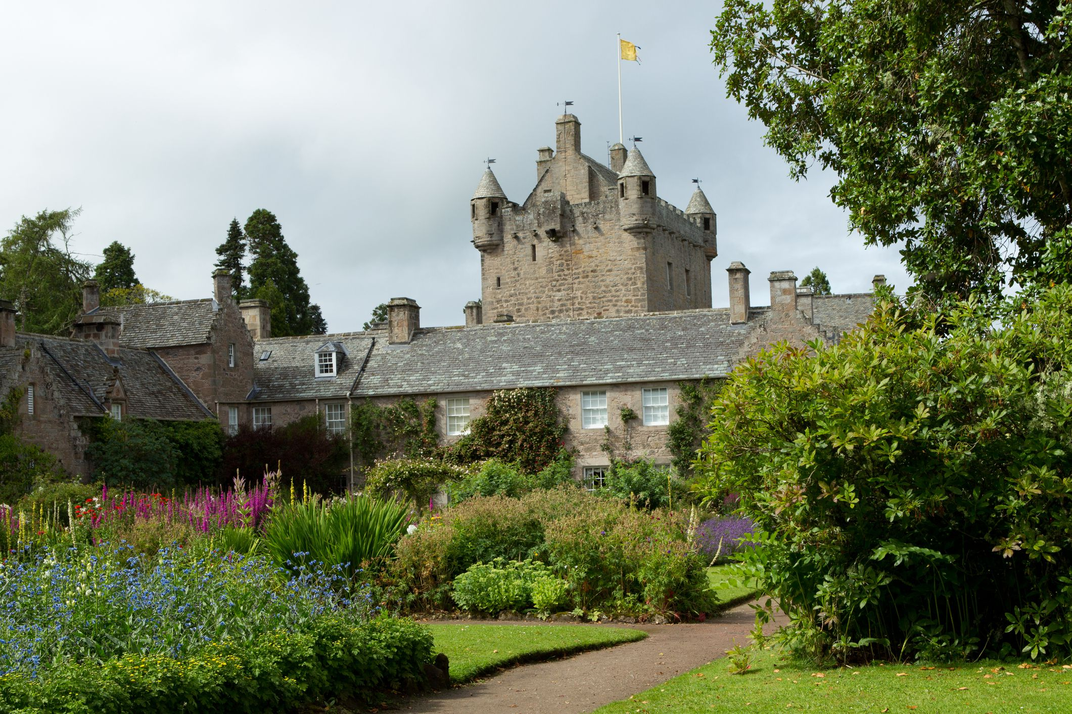 Fairytale castle and gardens found at Cawdor Castle - famous for its links to Shakespear's 'Macbeth' and his portrayal of the murder of King Duncan.