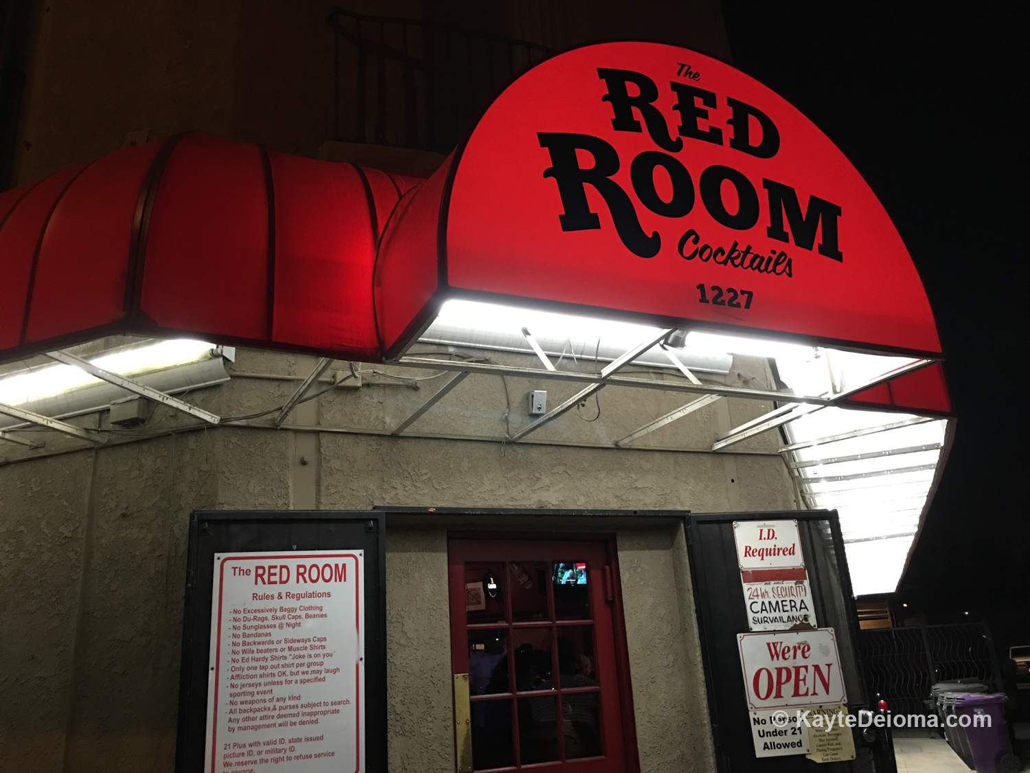 The Red Room on 4th Street in Long Beach, CA