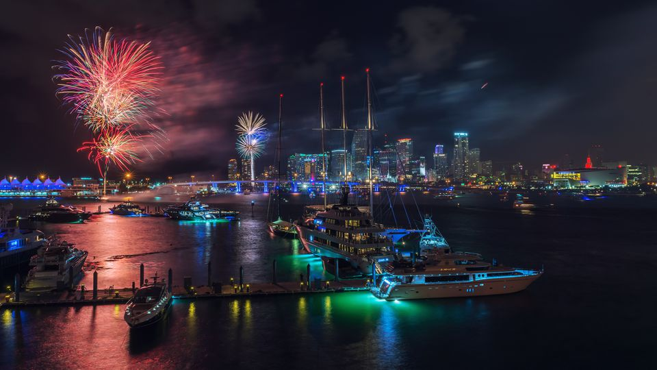 Miami New Years Eve Fireworks display