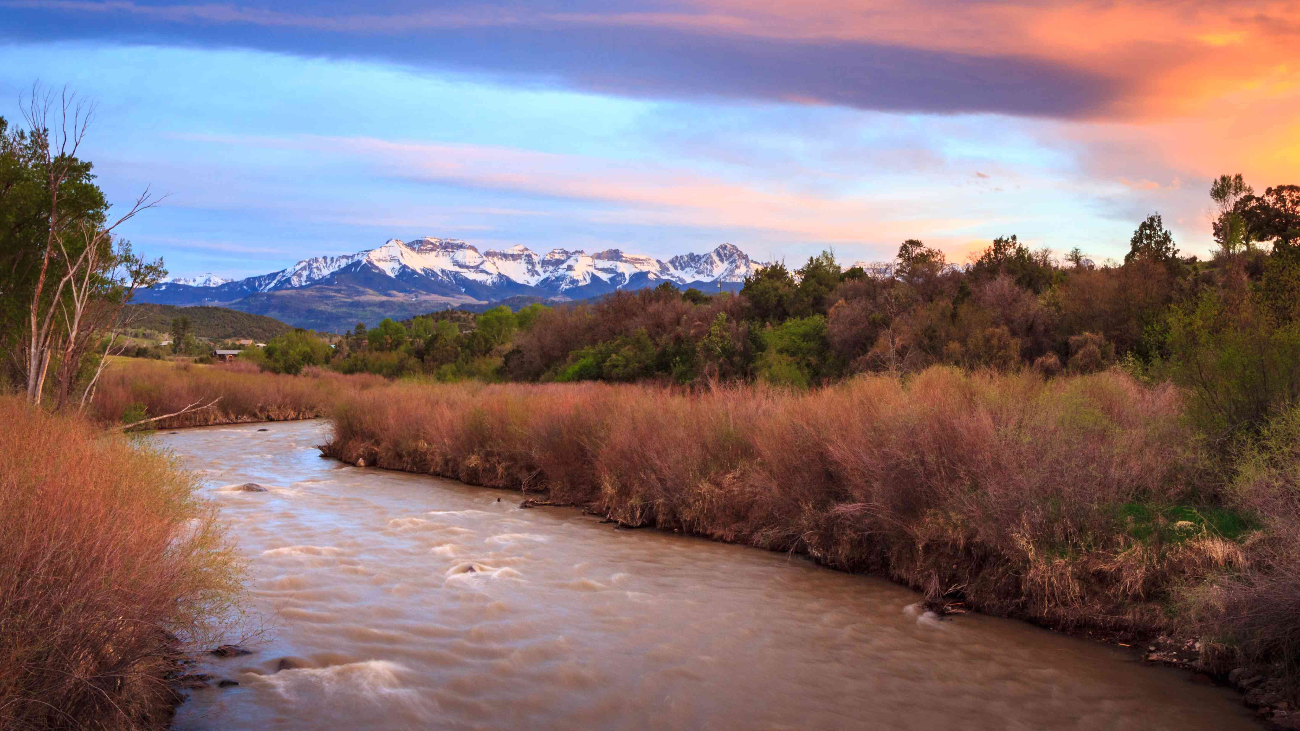 Sunset on the Uncompahgre River