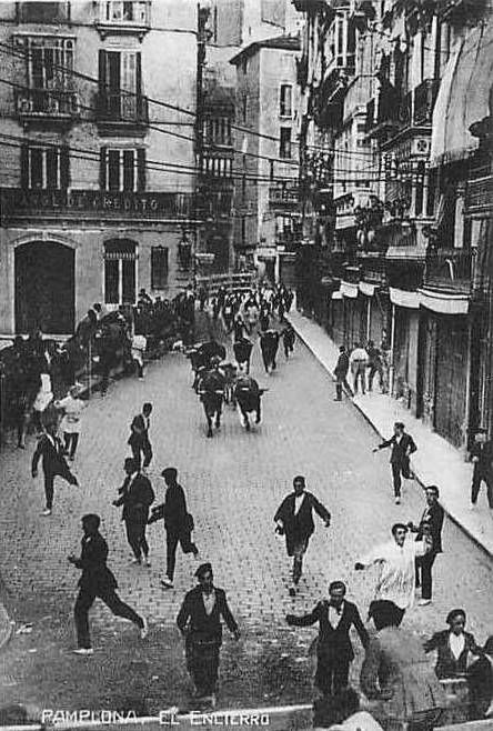 historic Pamplona Bull Run
