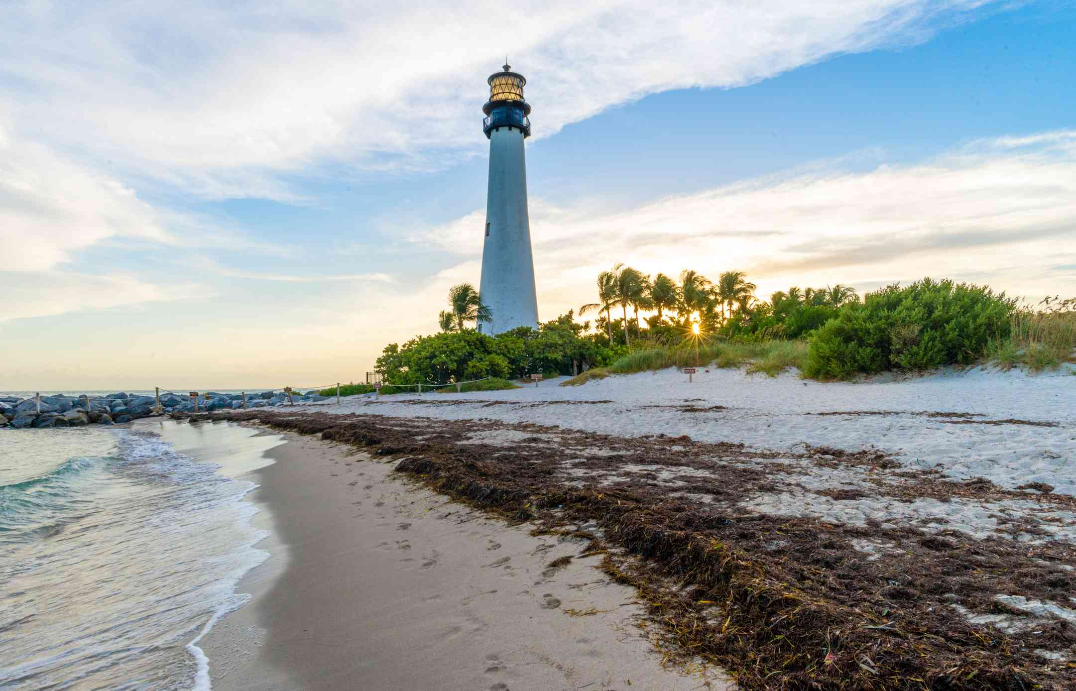 Cape Florida Lighthouse and Lantern in Bill Baggs State Park in ,Florida