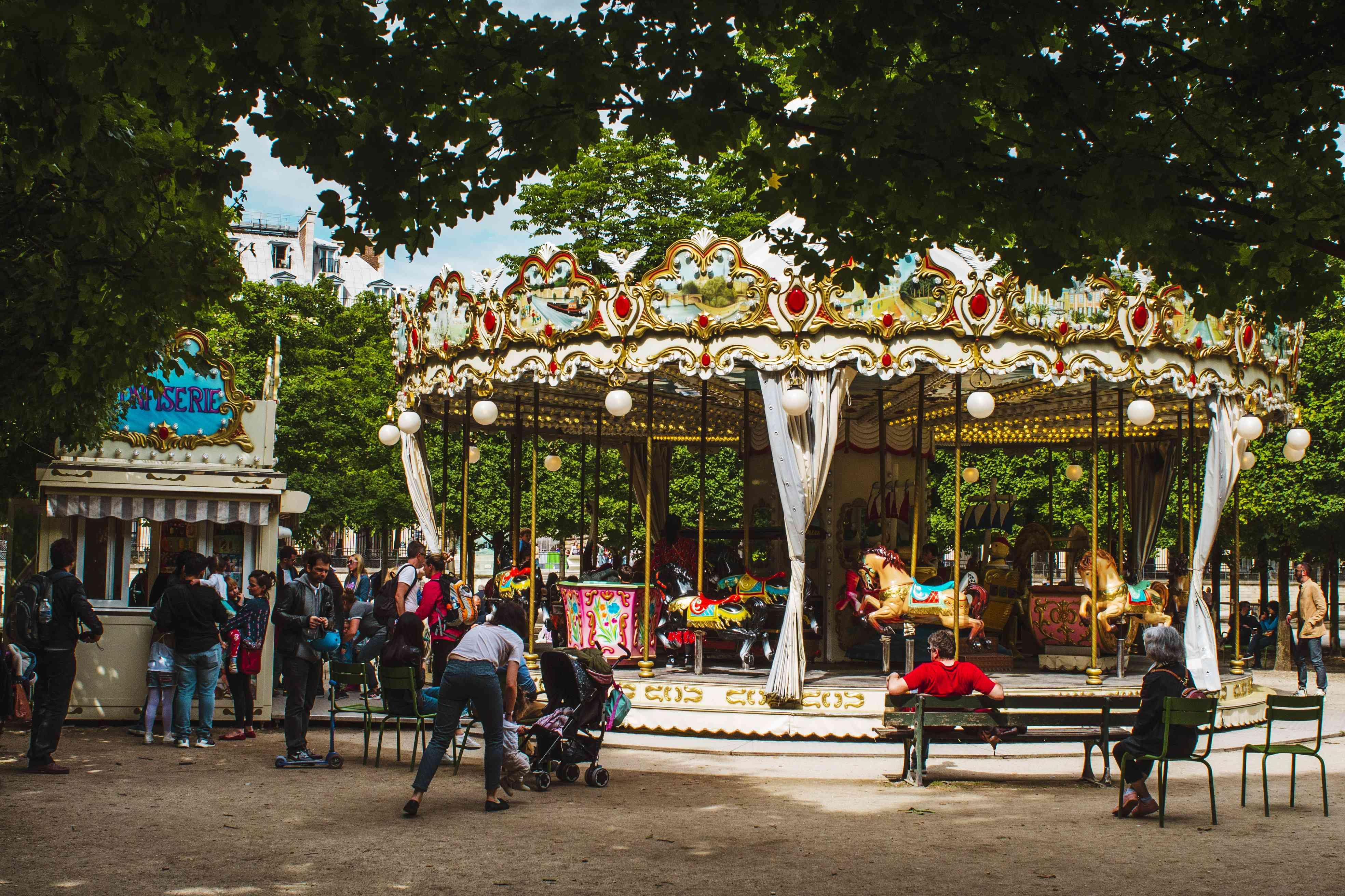 Carousel in Jardin des Tuileries