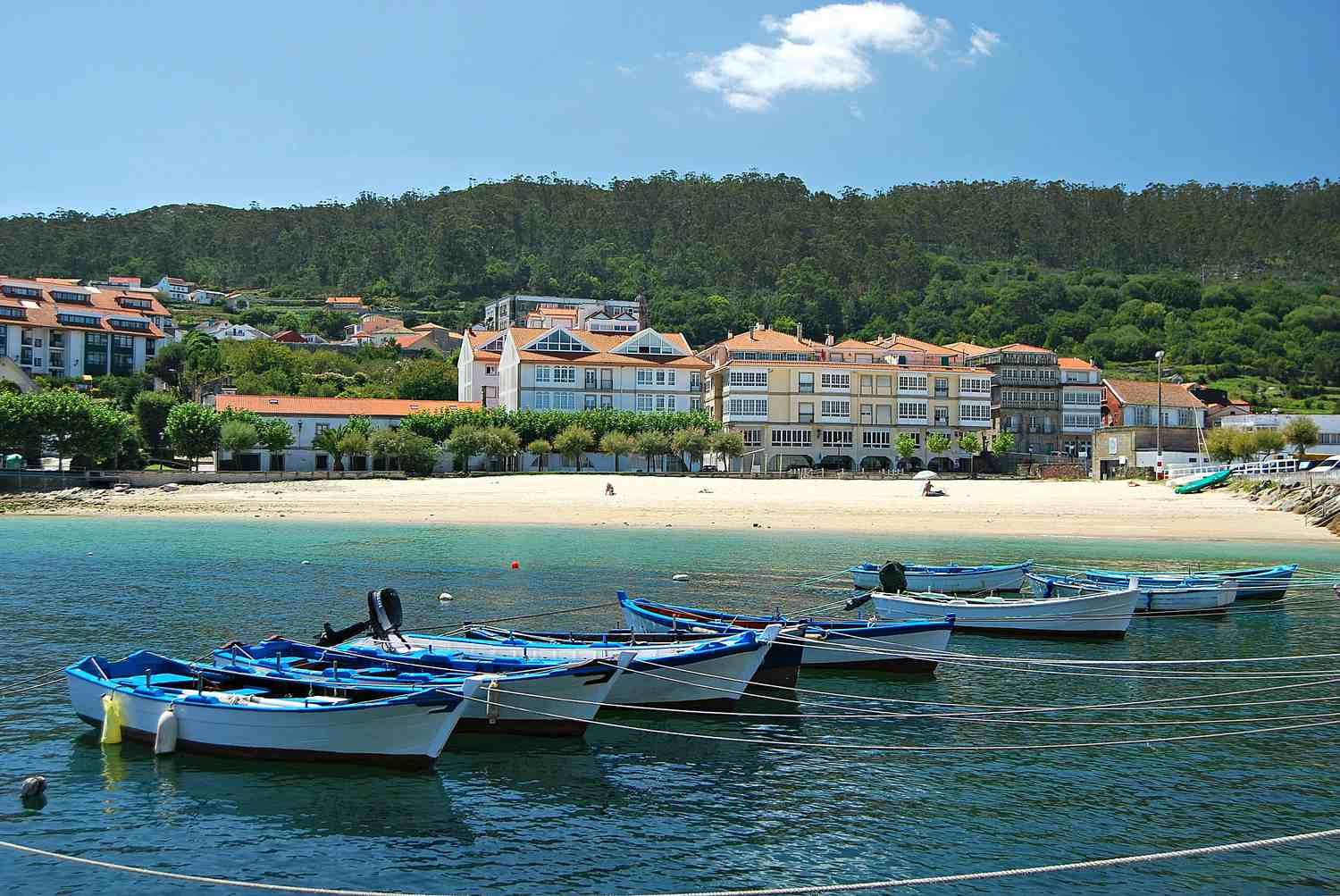 Fishing boats on the beach in Galicia, Spain