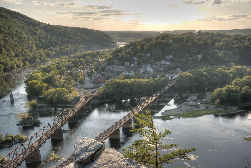 The view of Harpers Ferry