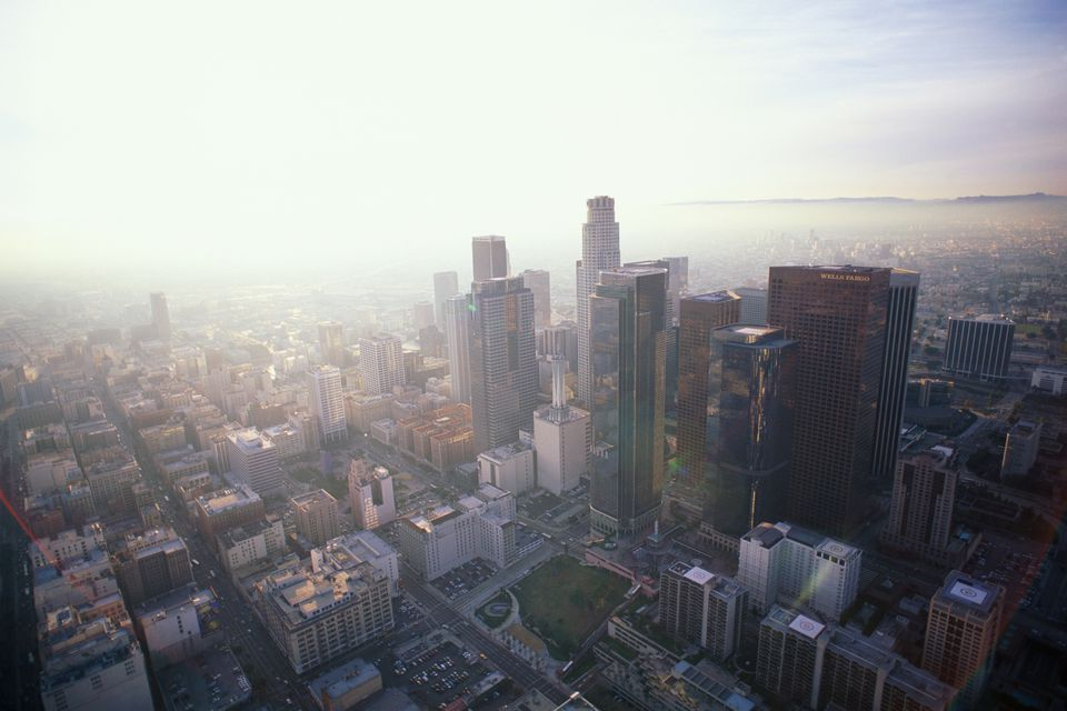 USA, California, Los Angeles, cityscape, aerial view