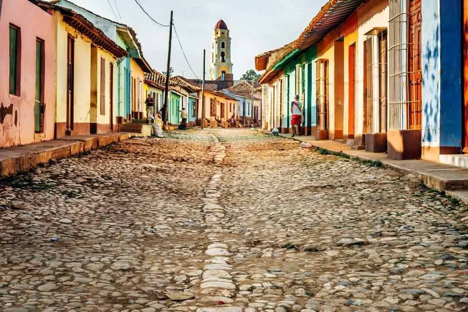 casas coloridas en Trinidad, Cuba