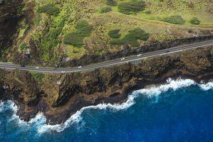 Kalanianaole Highway on Oahu, Hawaii
