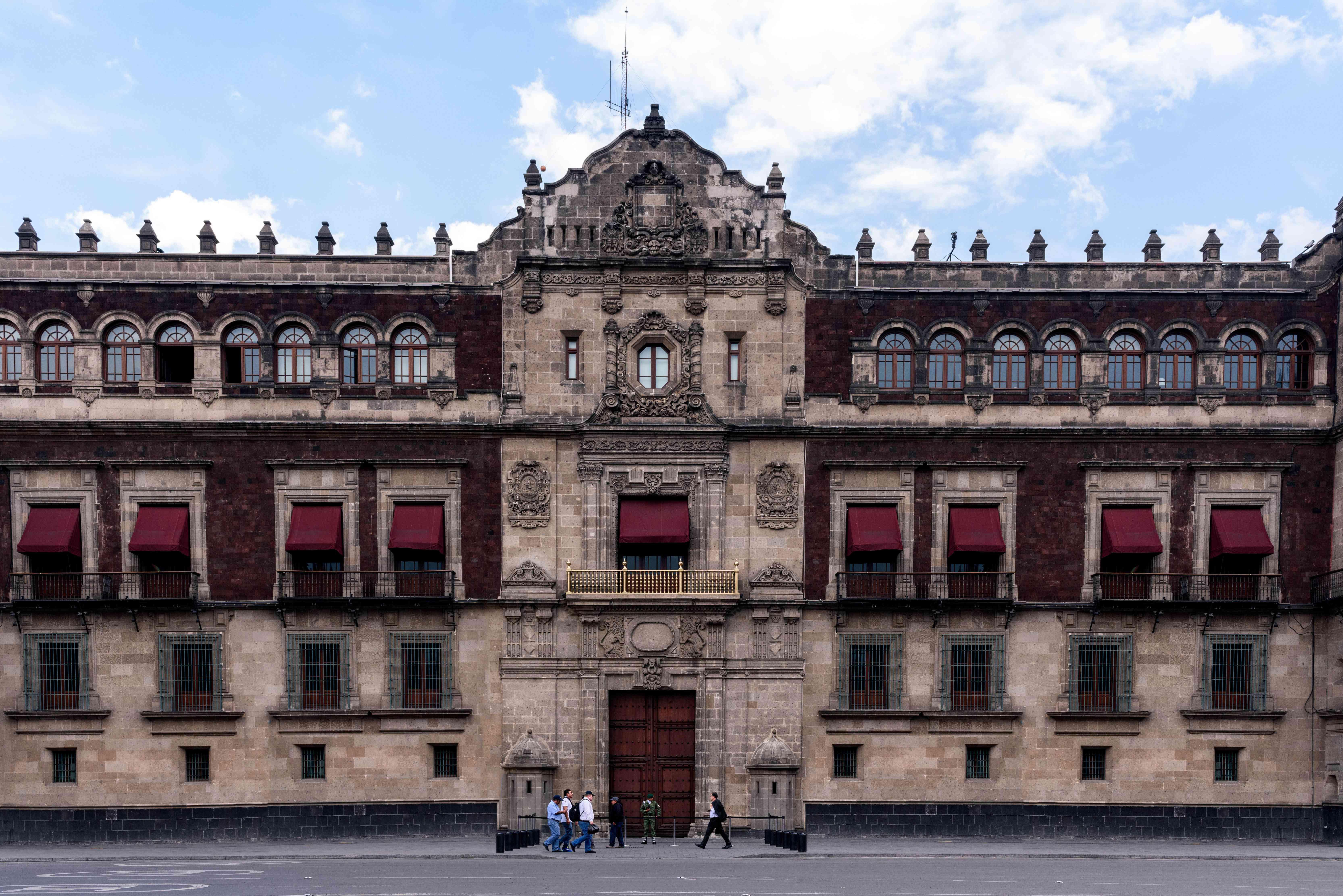 Exterior of the palacio national
