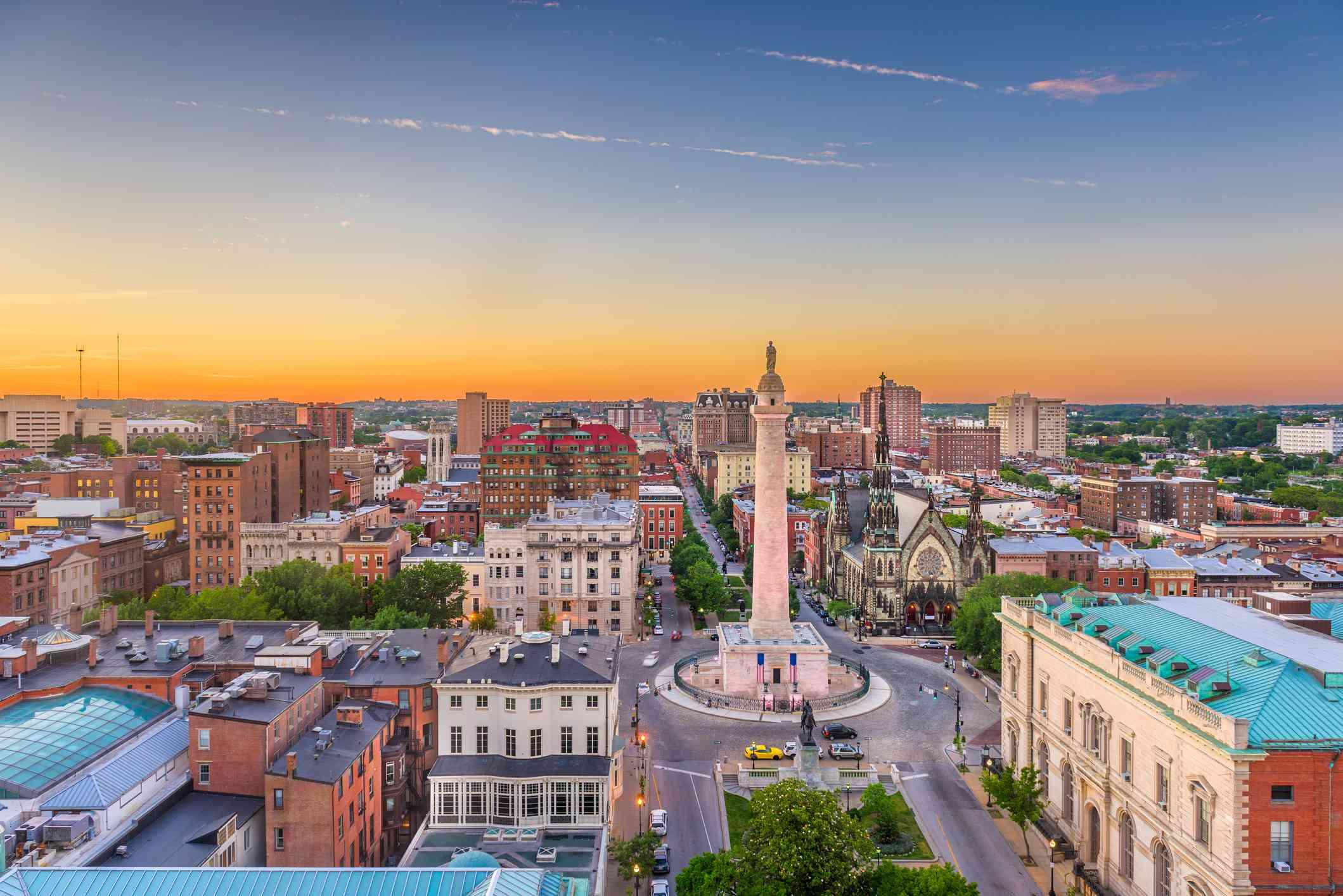 Baltimore, Maryland, USA Cityscape