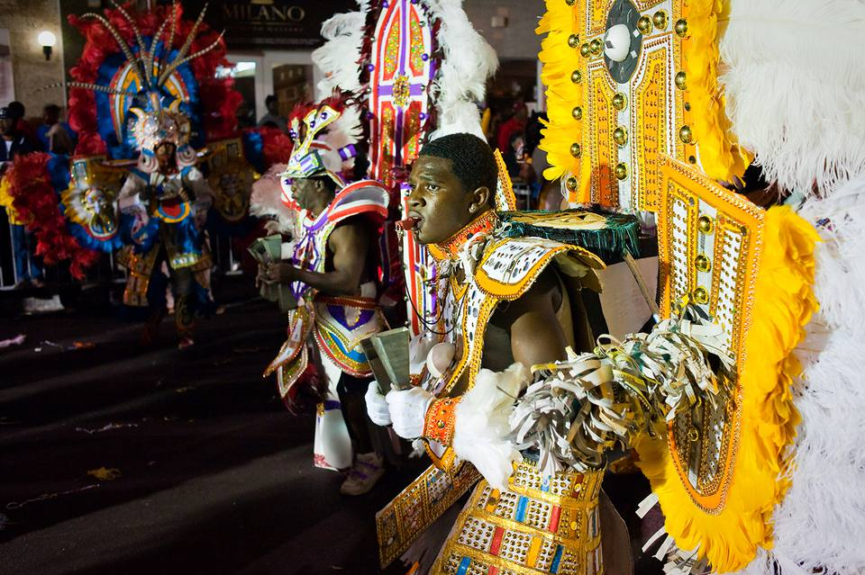 The annual Junkanoo Parade celebrated on New Year's Day celebrated across the Bahamas.