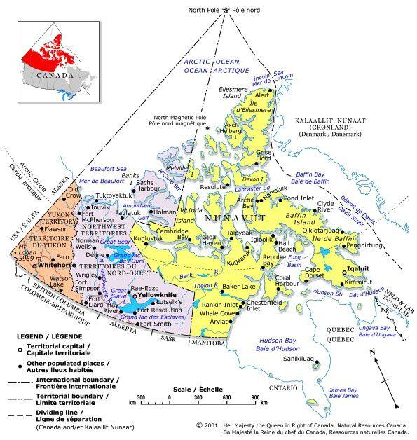 map of the yukon northwest territories and nunavut