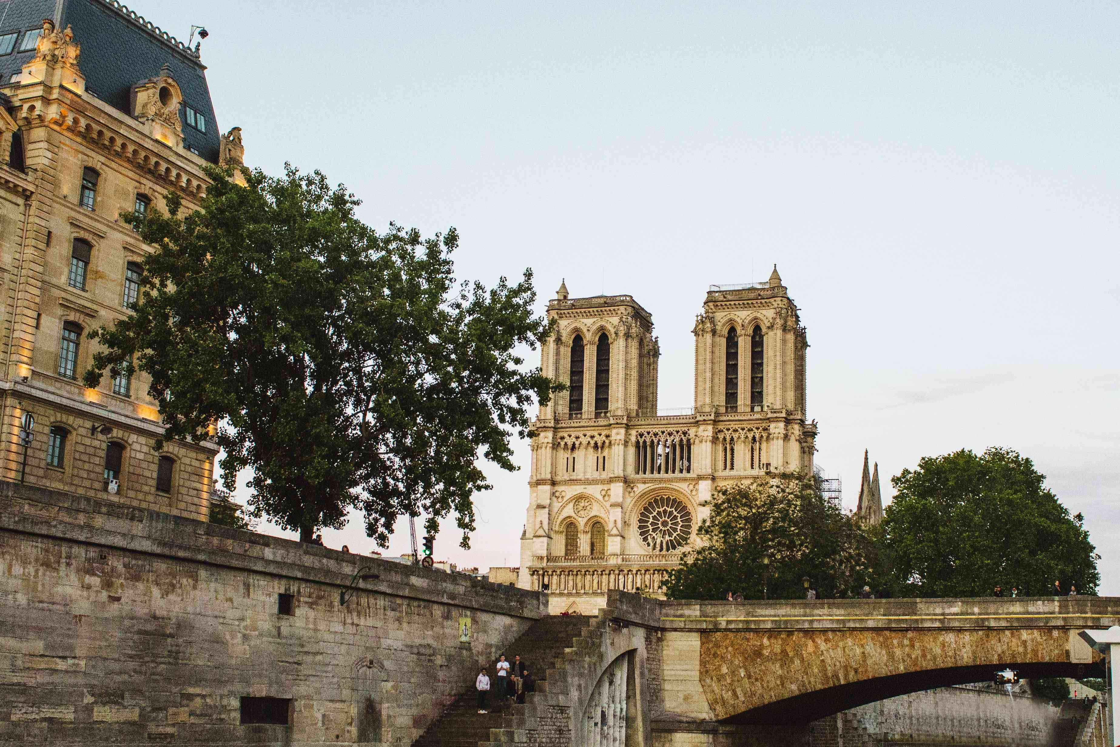 View of Notre Dame from the Seine river