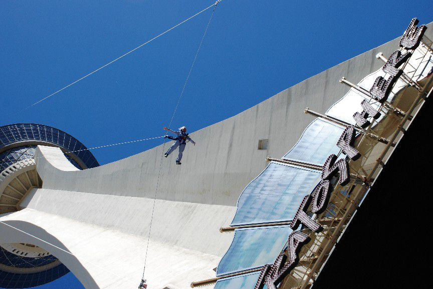 skyjump jumper at las vegas