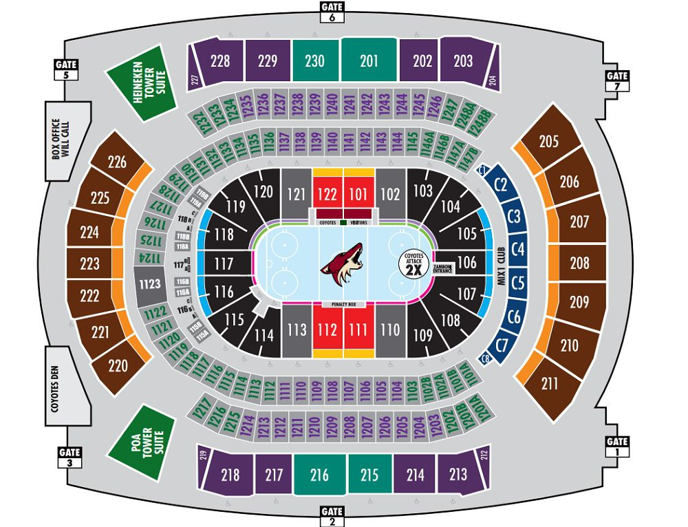 19 Inspirational Arizona Coyotes Seating Chart