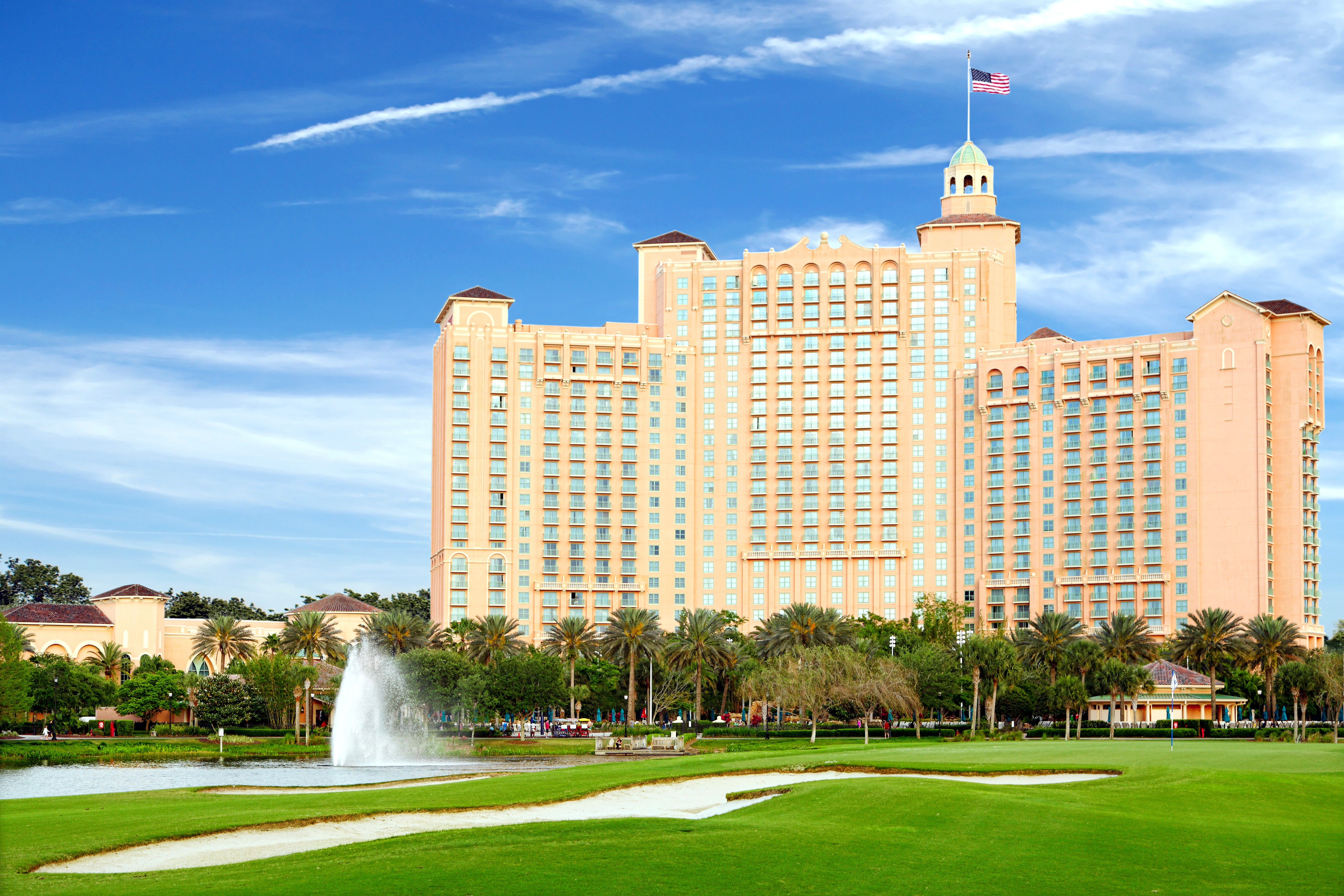 The JW Marriott Orlando hotel near the Convention Center features an 18-hole golf course