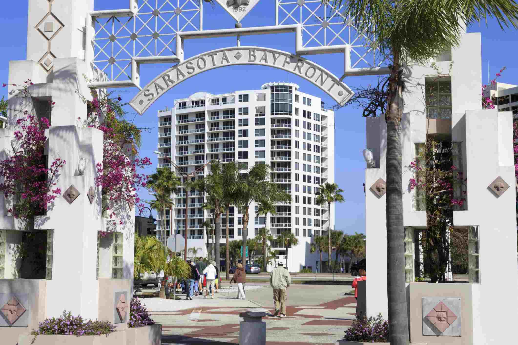 Entrance to Sarasota's Bayfront