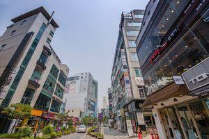 Shopping center in Busan , South korea