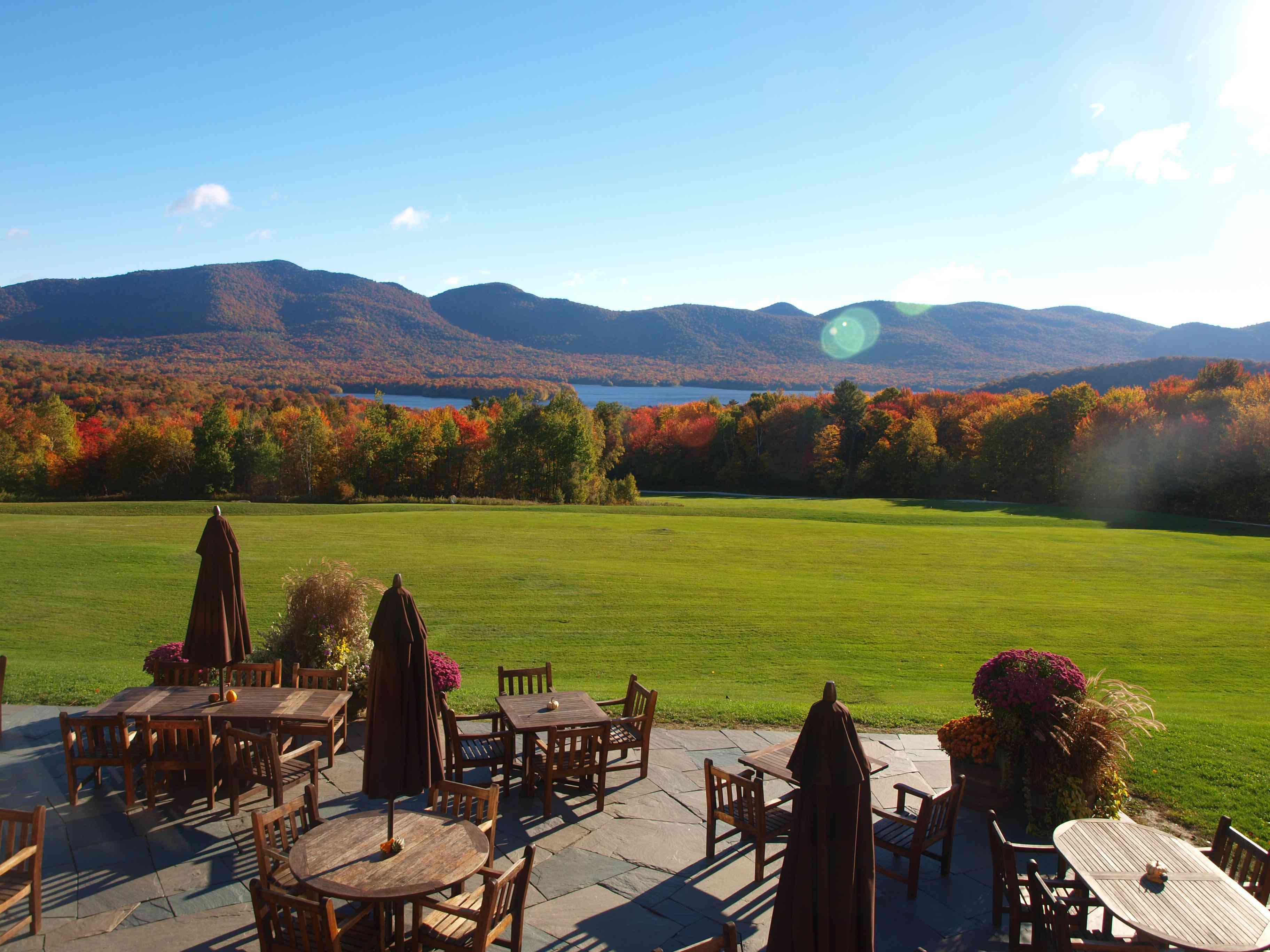 Mountain Top Inn Vermont en otoño