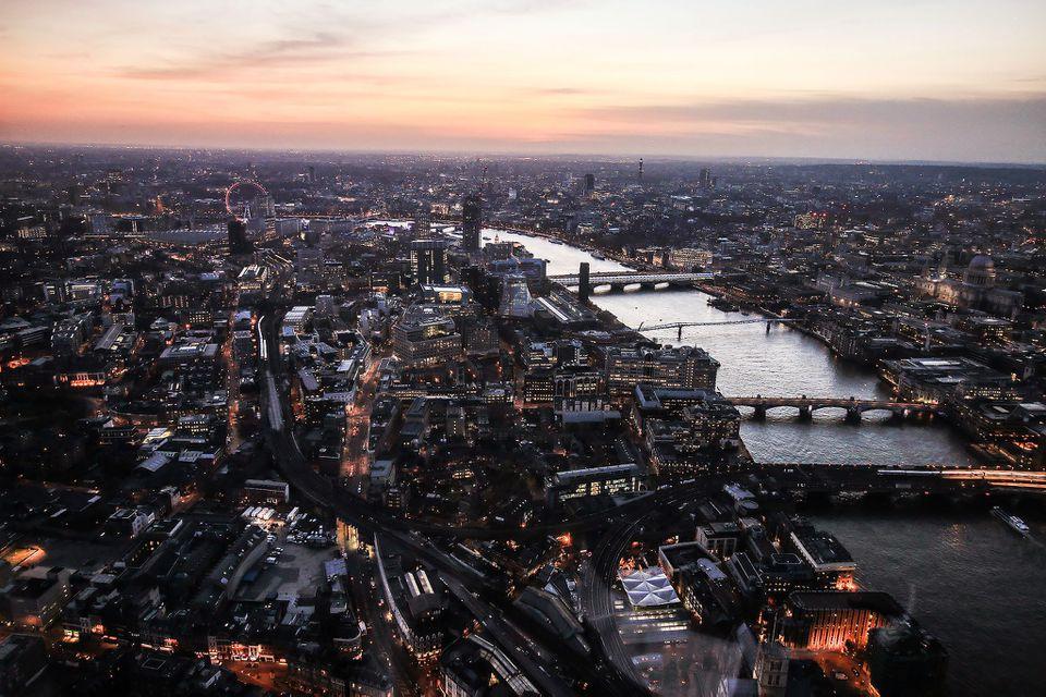 vista desde The Shard en Londres
