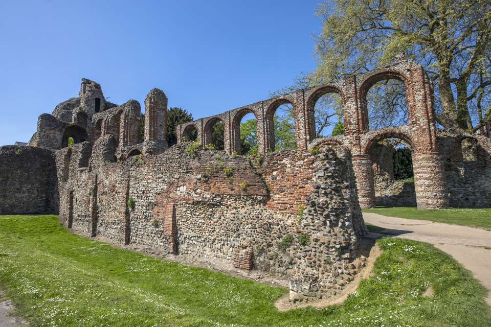 St. Botolphs Priory in Colchester, Essex, UK