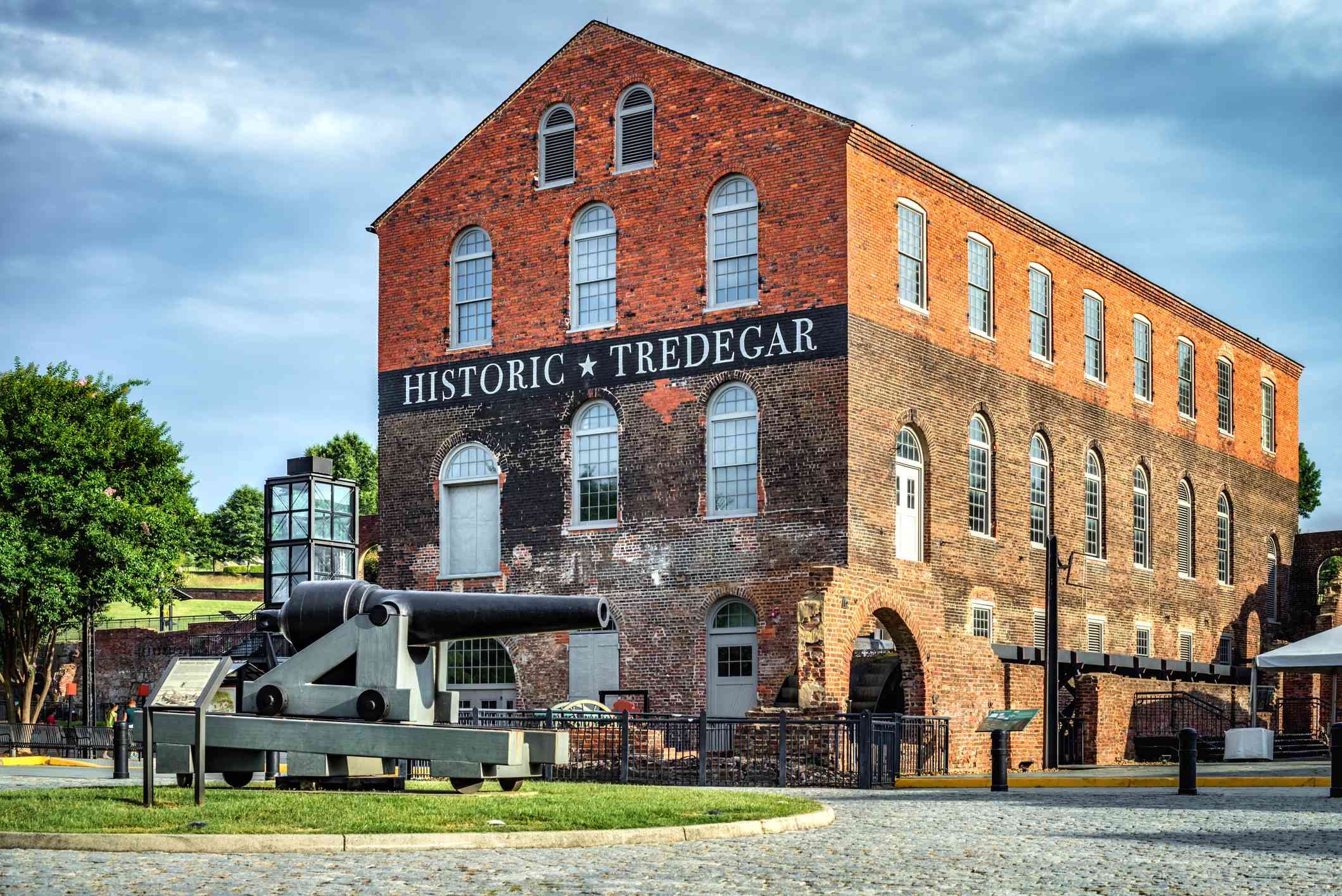 old brick cannon foundry with