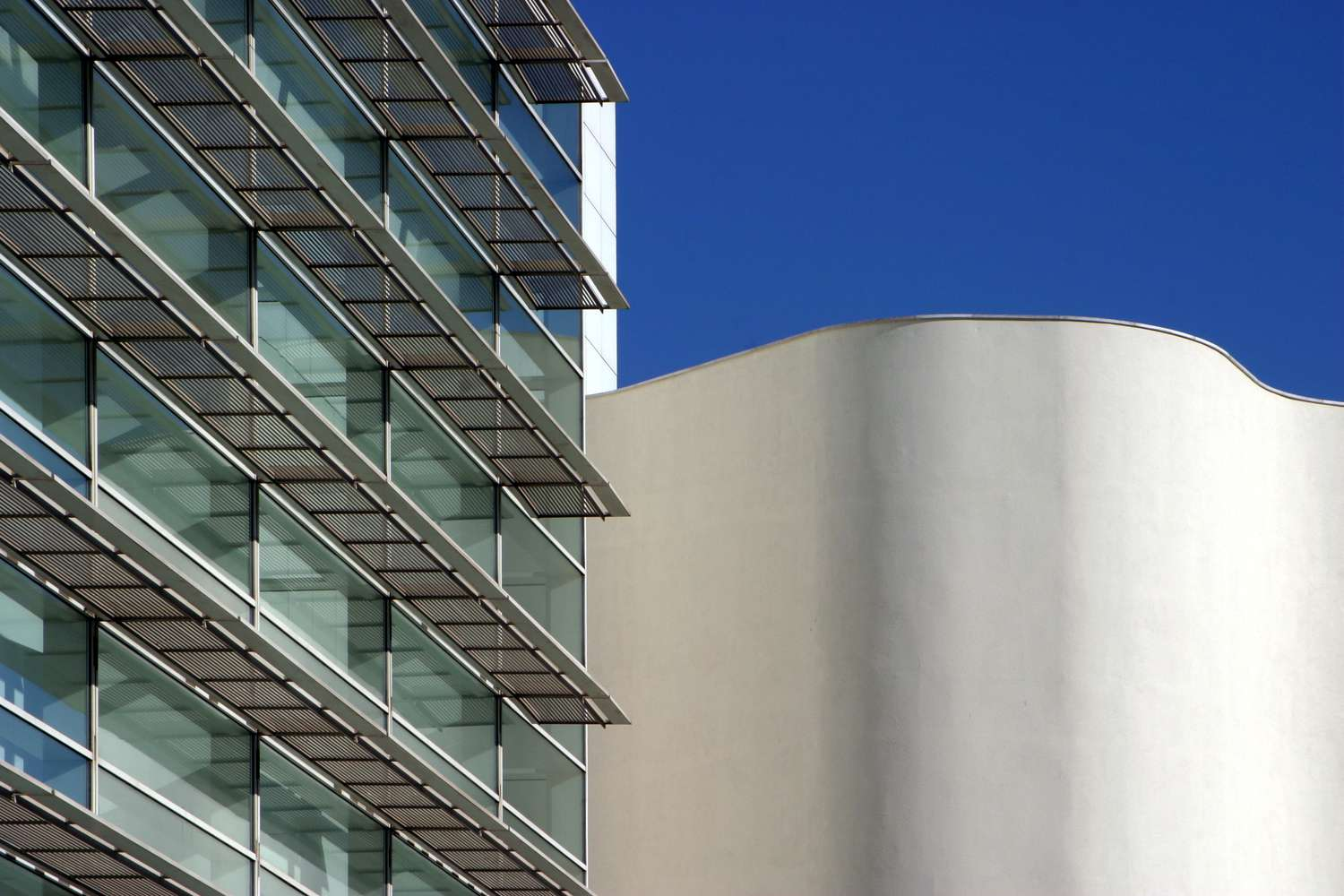 Exterior of the Contemporary Art Museum in Barcelona